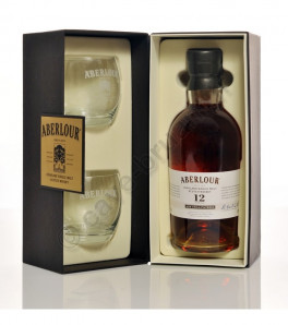 Coffret Aberlour 12 ans Non Chill-Filtered Highland Single Malt Whisky + 2 verres