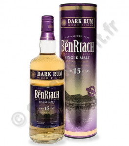 Benriach 15 ans dark rum Single Speyside Malt Scotch Whisky