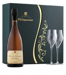 Coffret Champagne Phillipponnat Clos des Goisses 2004 + 2 flutes