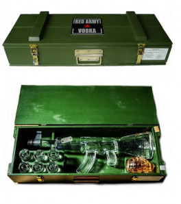 "Coffret Vodka Red Army ""Kalashnikov"""