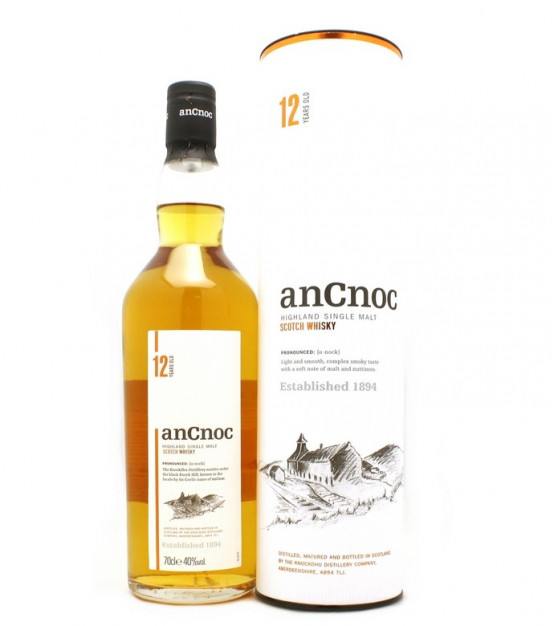 AnCnoc 12 ans Highland Single Malt Etui
