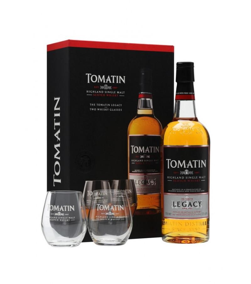 coffret whisky tomatin legacy avec deux verres highlands single malt. Black Bedroom Furniture Sets. Home Design Ideas