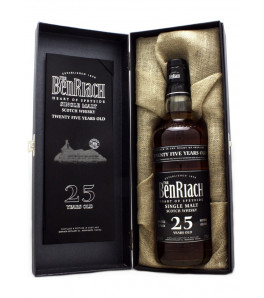 "Benriach 25 ans ""Heart of Speyside"" Single Malt Whisky Etui Ouvert"