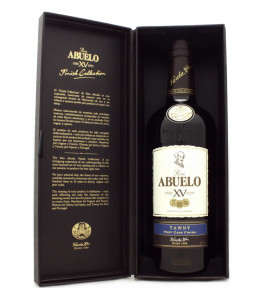Abuelo 15 ans Tawny Port Cask Finish XV Finish Collection étui ouvert