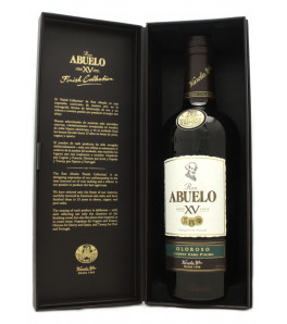 Abuelo 15 ans Oloroso Sherry Cask Finish XV Finish Collection dans étui ouvert