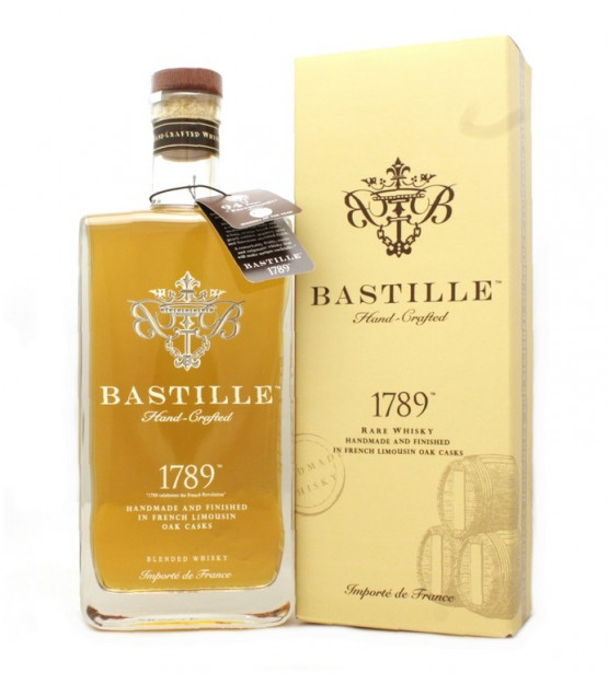 Bastille 1789 Hand-Crafted Blended French Whisky avec son étui
