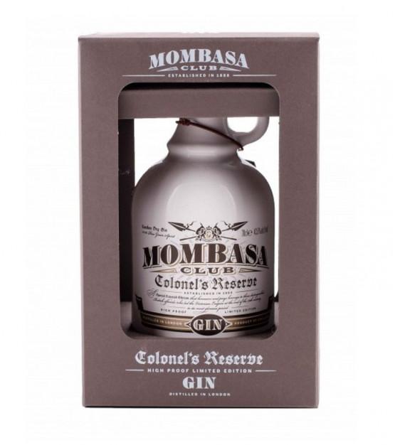 Mombasa Club Colonel's Reserve Gin avec son étui