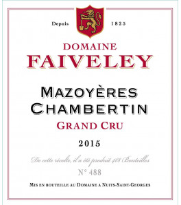 Domaine Faiveley Mazoyeres-Chambertin Grand Cru