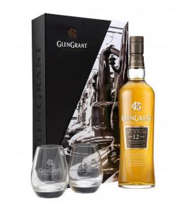 Glen grant 12 ans coffret whisky avec deux verres