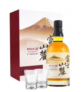 coffret kiri, fuji sanroku et ses deux verres whisky japonais
