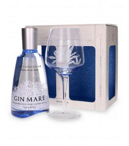 mare mediterranean gin coffret avec un verre