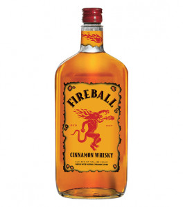 Fireball Red Hot Blended with Cinnamon whisky Liqueur