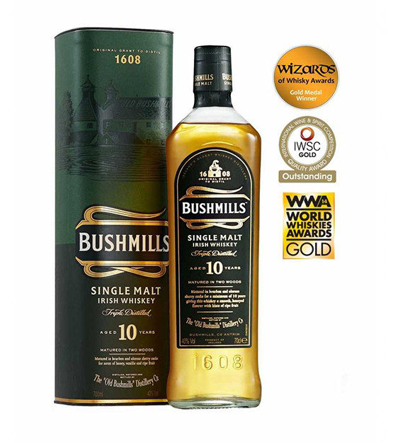 Bushmills 10 ans whiskey irlande single malt