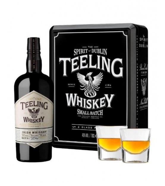 Teeling Small Batch Whiskey en coffret avec 2 verres