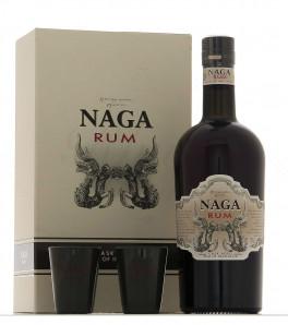 naga rum coffret et ses deux verres