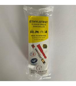 éthylotest à usage unique à 0,50 g/l sans ballon