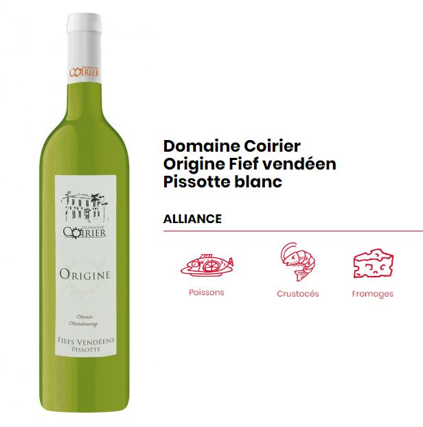 Domaine Coirier Origine fiefs vendéens Pissotte blanc