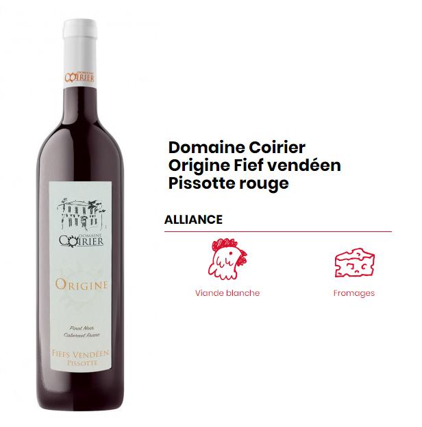 Domaine Coirier Origine fief vendéen Pissotte rouge